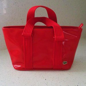 Lacoste Medium Bowling Bag Sporty Patent Leather